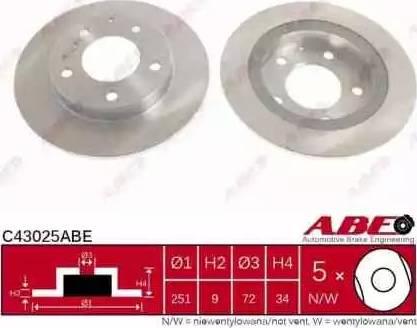 ABE C43025ABE - Piduriketas multiparts.ee