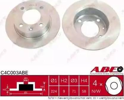 ABE C4C003ABE - Piduriketas multiparts.ee