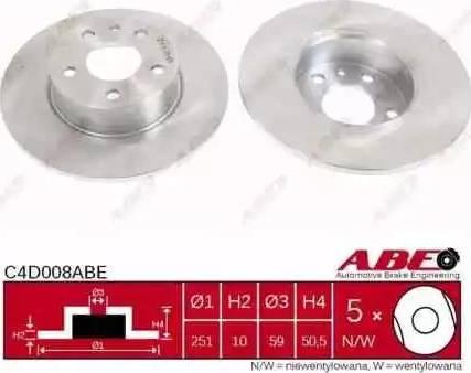 ABE C4D008ABE - Piduriketas multiparts.ee