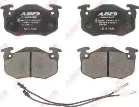 ABE C1R002ABE - Piduriklotsi komplekt,ketaspidur multiparts.ee