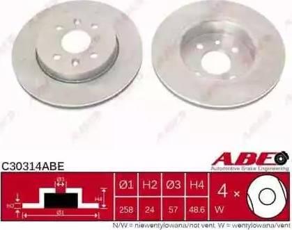 ABE C30314ABE - Piduriketas multiparts.ee