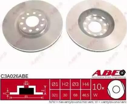 ABE C3A026ABE - Piduriketas multiparts.ee