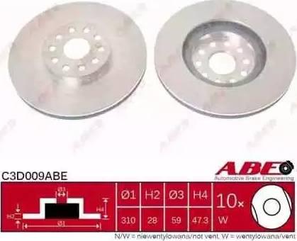 ABE C3D009ABE - Piduriketas multiparts.ee
