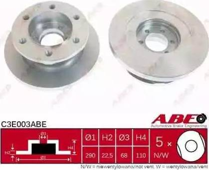ABE C3E003ABE - Piduriketas multiparts.ee