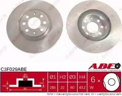ABE C3F029ABE - Piduriketas multiparts.ee