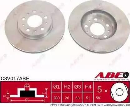 ABE C3V017ABE - Piduriketas multiparts.ee