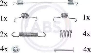 A.B.S. 0819Q - Lisakomplekt, Piduriklotsid multiparts.ee