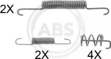 A.B.S. 0832Q - Lisakomplekt, Piduriklotsid multiparts.ee