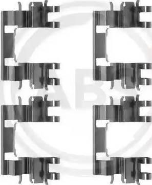 A.B.S. 1087Q - Lisakomplekt, ketaspiduriklotsid multiparts.ee