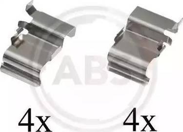 A.B.S. 1033Q - Lisakomplekt, ketaspiduriklotsid multiparts.ee