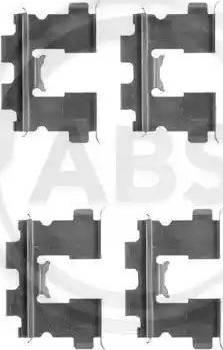 A.B.S. 1163Q - Lisakomplekt, ketaspiduriklotsid multiparts.ee