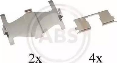 A.B.S. 1204Q - Lisakomplekt, ketaspiduriklotsid multiparts.ee