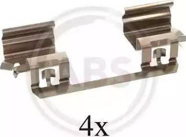 A.B.S. 1234Q - Lisakomplekt, ketaspiduriklotsid multiparts.ee