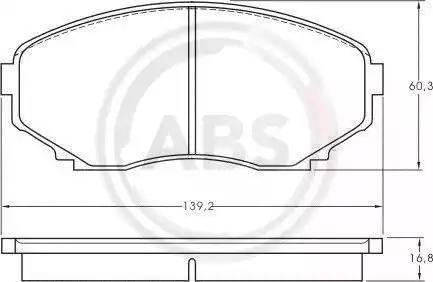 A.B.S. 36995 - Piduriklotsi komplekt,ketaspidur multiparts.ee