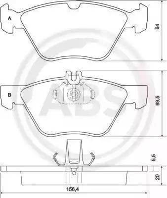 A.B.S. 36943 - Piduriklotsi komplekt,ketaspidur multiparts.ee