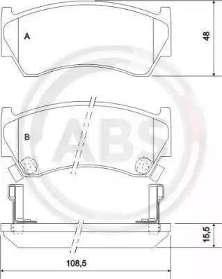 A.B.S. 36955 - Piduriklotsi komplekt,ketaspidur multiparts.ee