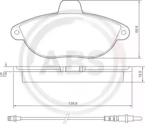 A.B.S. 36911 - Piduriklotsi komplekt,ketaspidur multiparts.ee