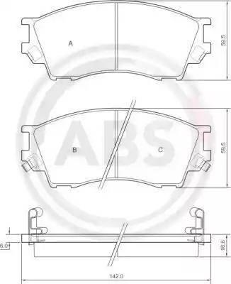 A.B.S. 36929 - Piduriklotsi komplekt,ketaspidur multiparts.ee