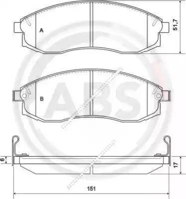 A.B.S. 36974 - Piduriklotsi komplekt,ketaspidur multiparts.ee
