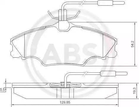 A.B.S. 36976 - Piduriklotsi komplekt,ketaspidur multiparts.ee