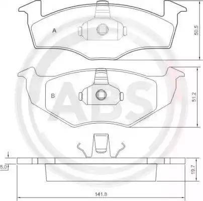 A.B.S. 36970 - Piduriklotsi komplekt,ketaspidur multiparts.ee