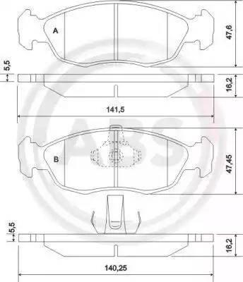A.B.S. 36978 - Piduriklotsi komplekt,ketaspidur multiparts.ee