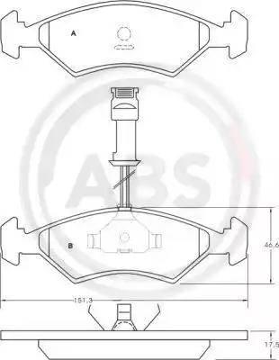 A.B.S. 36459 - Piduriklotsi komplekt,ketaspidur multiparts.ee