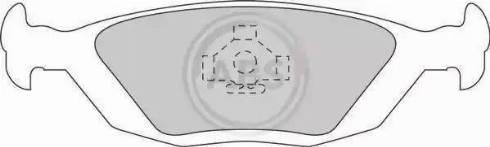 A.B.S. 36489/1 - Piduriklotsi komplekt,ketaspidur multiparts.ee