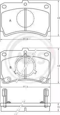 A.B.S. 36594 - Piduriklotsi komplekt,ketaspidur multiparts.ee