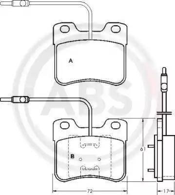 A.B.S. 36598 - Piduriklotsi komplekt,ketaspidur multiparts.ee