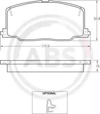 A.B.S. 36659 - Piduriklotsi komplekt,ketaspidur multiparts.ee