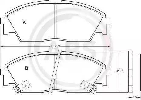 A.B.S. 36616 - Piduriklotsi komplekt,ketaspidur multiparts.ee