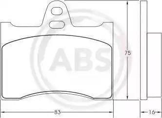 A.B.S. 36110 - Piduriklotsi komplekt,ketaspidur multiparts.ee
