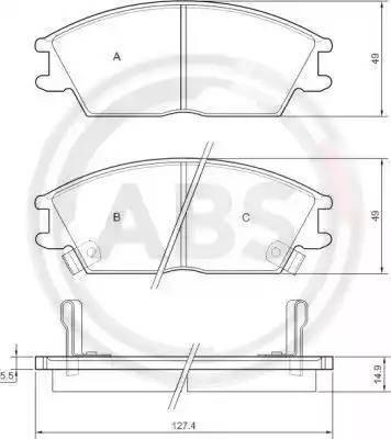 A.B.S. 36172 - Piduriklotsi komplekt,ketaspidur multiparts.ee