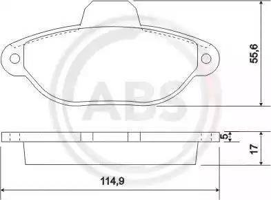 A.B.S. 36854 - Piduriklotsi komplekt,ketaspidur multiparts.ee
