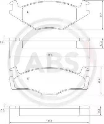 A.B.S. 36853 - Piduriklotsi komplekt,ketaspidur multiparts.ee