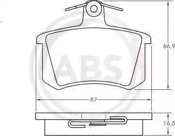 A.B.S. 36818 - Piduriklotsi komplekt,ketaspidur multiparts.ee