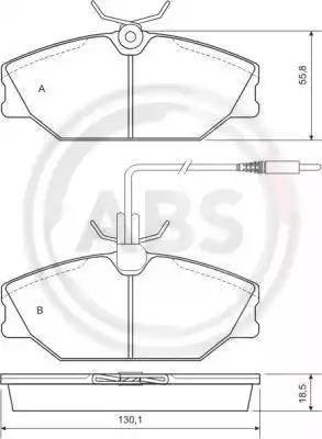A.B.S. 36769 - Piduriklotsi komplekt,ketaspidur multiparts.ee