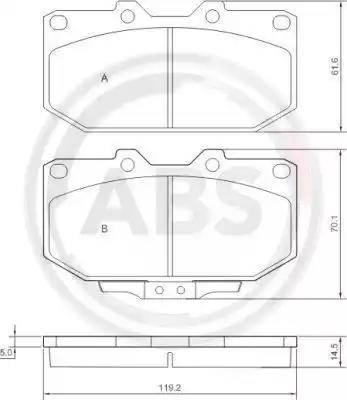 A.B.S. 36718 - Piduriklotsi komplekt,ketaspidur multiparts.ee