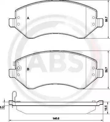 A.B.S. 38856 - Piduriklotsi komplekt,ketaspidur multiparts.ee