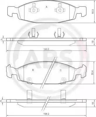 A.B.S. 38790 - Piduriklotsi komplekt,ketaspidur multiparts.ee