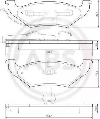 A.B.S. 38715 - Piduriklotsi komplekt,ketaspidur multiparts.ee