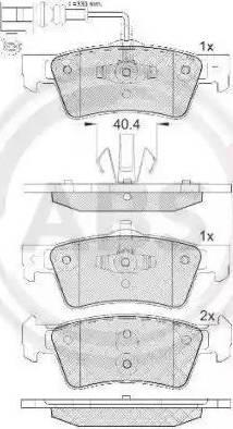 A.B.S. 37494 - Piduriklotsi komplekt,ketaspidur multiparts.ee