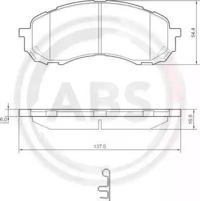 A.B.S. 37443 - Piduriklotsi komplekt,ketaspidur multiparts.ee
