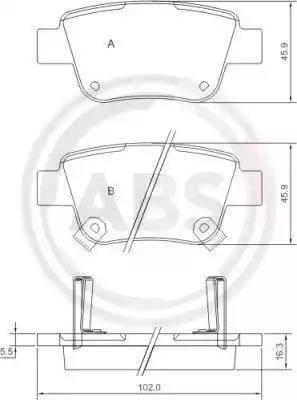 A.B.S. 37401 - Piduriklotsi komplekt,ketaspidur multiparts.ee