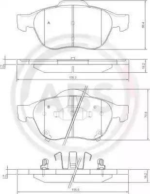 A.B.S. 37402 - Piduriklotsi komplekt,ketaspidur multiparts.ee