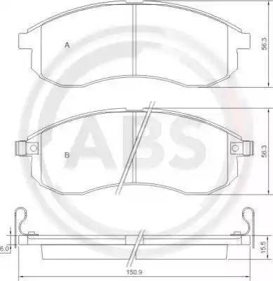 A.B.S. 37481 - Piduriklotsi komplekt,ketaspidur multiparts.ee