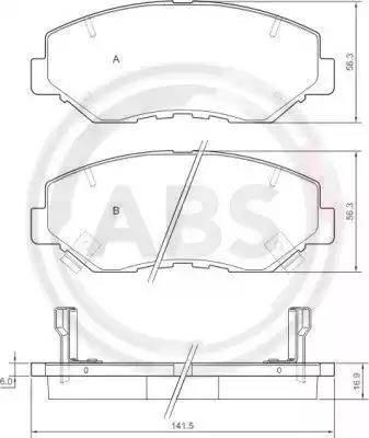 A.B.S. 37424 - Piduriklotsi komplekt,ketaspidur multiparts.ee