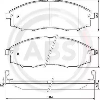 A.B.S. 37541 - Piduriklotsi komplekt,ketaspidur multiparts.ee