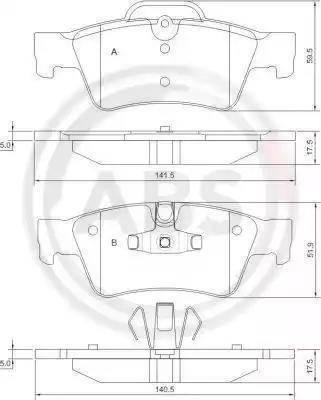 A.B.S. 37509 - Piduriklotsi komplekt,ketaspidur multiparts.ee